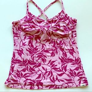 The North Face pink floral tank top size medium